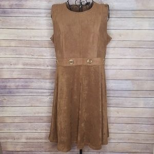 Apt 9 size 12 brown suede sleeveless dress
